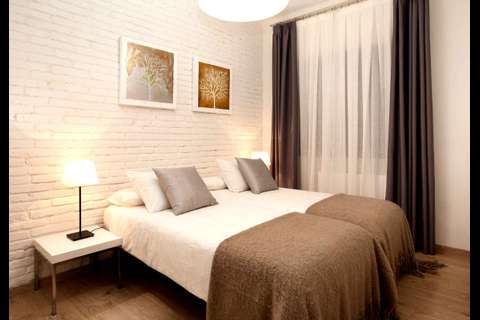Terrace Corcega 2 barcelona apartment - twin bedroom